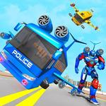 Flying Bus Robot Transform War- Police Robot Games for pc icon