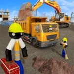 Stickman City Construction Excavator for pc icon