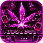 Pink Smokey Weed Keyboard Theme for pc icon