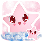 Cute Baby pink Star Kawaii Theme for pc icon