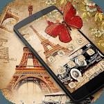 Nostalgic Eiffel Car Butterfly Theme for pc icon